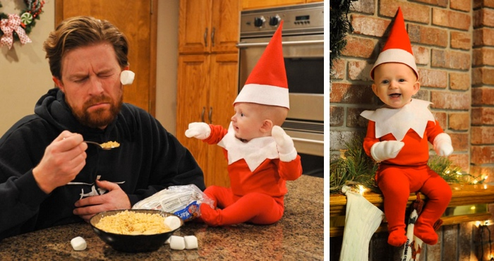 Utah Father Transforms His 4-Month-Old Baby Into An Elf On The Shelf