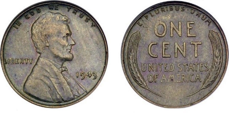Copper Pennies From 1943 Can Sell For Up To 85 000