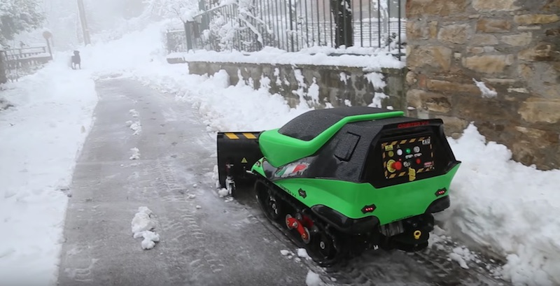 Remote Control Snow Plow : Atr orbiter the ultimate remote controlled snow plow