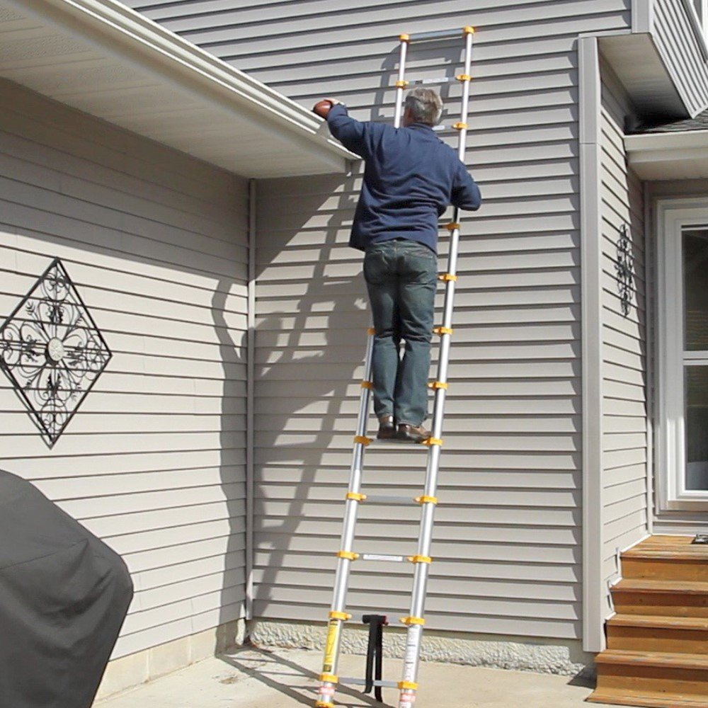 Hand Carried Chair >> Xtend & Climb Telescoping Ladder: Collapses to the Size of ...