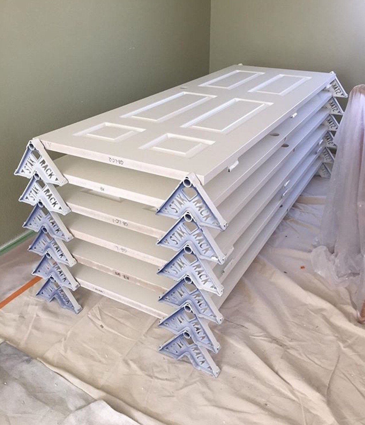 Stak Rack: Paint, Flip, And Stack Your Newly Painted Doors