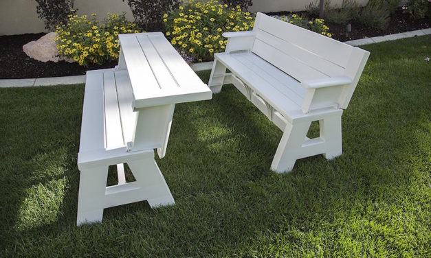 Convert-A-Bench: The Two-in-One Outdoor Bench for Any Occasion