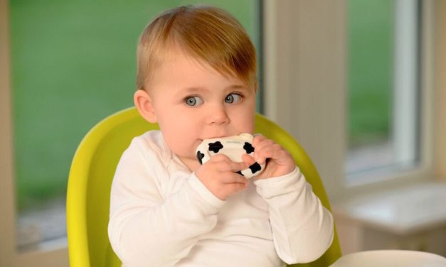 kidsme Icy Moo Moo Ice Teether: Comfort Sore Gums with Silicone and Juice