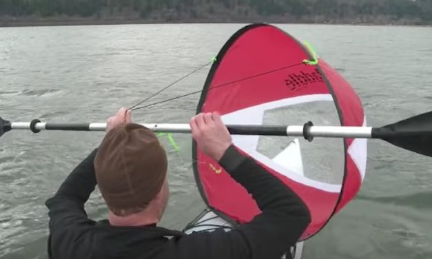 WindPaddle Scout Sail: The Kayak Sail for Low-Medium Winds