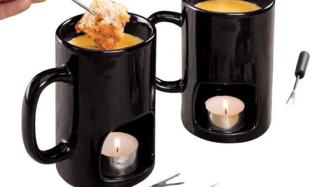 Kovot Personal Fondue Mugs: Create Fondue with a Variety of Foods at Your Table