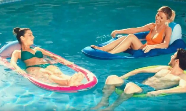 SwimWays Spring Float Recliner Pool Lounger: Relax in the Water Comfortably
