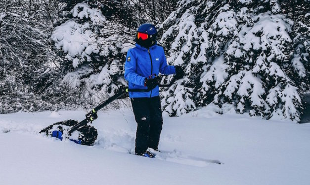 Skizee: Motorized Engine Lets You Ski Uphill and Off-Road